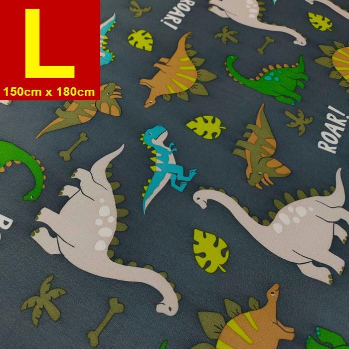 【嬅樺小舖】MIT台灣製 五層專業透氣防水墊 L號《灰恐龍》防尿墊 隔尿墊 防水尿墊 尿布墊 看護墊 寵物墊 生理墊 產褥墊 露營野餐墊~