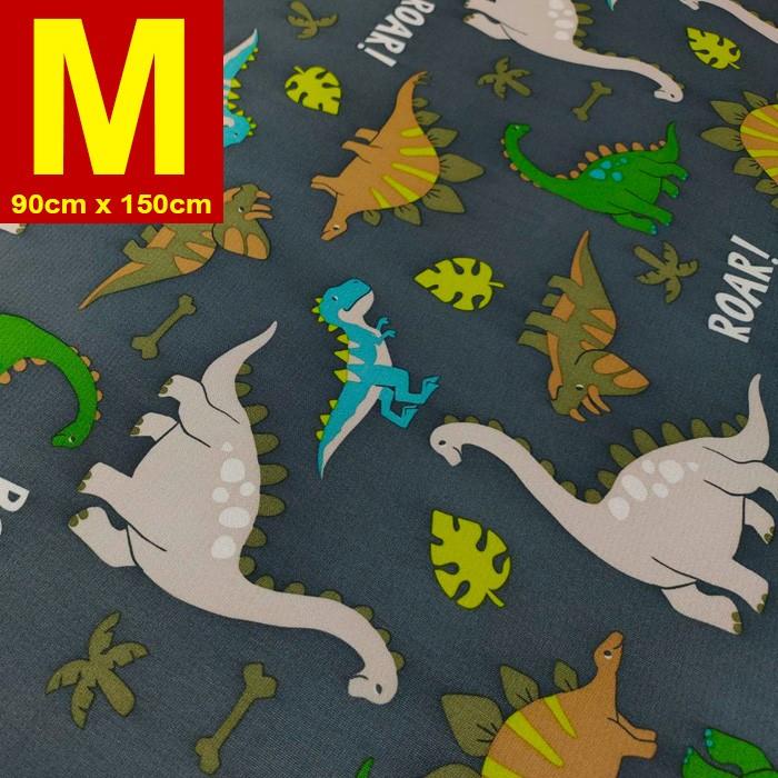 【嬅樺小舖】MIT台灣製 五層專業透氣防水墊 M號《灰恐龍》防尿墊 隔尿墊 防水尿墊 尿布墊 看護墊 寵物墊 生理墊 產褥墊 露營野餐墊~