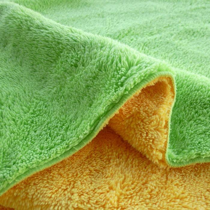 【嬅樺小舖】MIT台灣製 OS 5x6 雙色天鵝絨毯《素面(黃綠)》