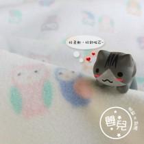 【嬅樺小舖】MIT台灣製 嬰兒搖粒雪衣毯《白底貓頭鷹》~保暖 柔軟 輕巧 舒適~鋪蓋二用,耐機洗~