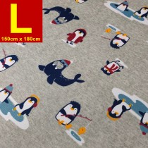 【嬅樺小舖】MIT台灣製 五層專業透氣防水墊 L號《機能款-企鵝家族》防尿墊 隔尿墊 防水尿墊 尿布墊 看護墊 寵物墊 生理墊 產褥墊 露營野餐墊~