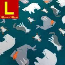 【嬅樺小舖】MIT台灣製 五層專業透氣防水墊 L號《北極動物》防尿墊 隔尿墊 防水尿墊 尿布墊 看護墊 寵物墊 生理墊 產褥墊 露營野餐墊~