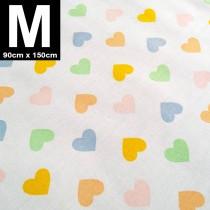 【嬅樺小舖】MIT台灣製 三層專業透氣防水墊 M號《粉嫩心》防尿墊 隔尿墊 防水尿墊 尿布墊 看護墊 寵物墊 生理墊 產褥墊 露營野餐墊~