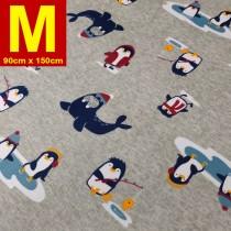 【嬅樺小舖】MIT台灣製 五層專業透氣防水墊 M號《機能款-企鵝家族》防尿墊 隔尿墊 防水尿墊 尿布墊 看護墊 寵物墊 生理墊 產褥墊 露營野餐墊~
