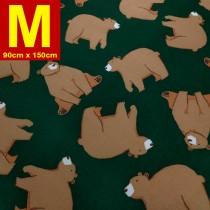 【嬅樺小舖】MIT台灣製 五層專業透氣防水墊 M號《機能款-大棕熊》防尿墊 隔尿墊 防水尿墊 尿布墊 看護墊 寵物墊 生理墊 產褥墊 露營野餐墊~