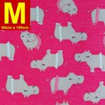 【嬅樺小舖】MIT台灣製 五層專業透氣防水墊 M號《機能款-桃紅河馬》防尿墊 隔尿墊 看護墊 寵物墊 生理墊 產褥墊 露營墊 野餐墊~