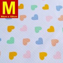 【嬅樺小舖】MIT台灣製 五層專業透氣防水墊 M號《機能款-粉嫩心》防尿墊 隔尿墊 防水尿墊 尿布墊 看護墊 寵物墊 生理墊 產褥墊 露營野餐墊~