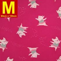 【嬅樺小舖】MIT台灣製 五層專業透氣防水墊 M號《機能款-芭蕾小豬》防尿墊 隔尿墊 防水尿墊 尿布墊 看護墊 寵物墊 生理墊 產褥墊 露營野餐墊~