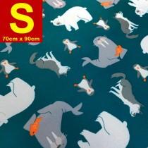 【嬅樺小舖】MIT台灣製 五層專業透氣防水墊 S號《北極動物》防尿墊 隔尿墊 防水尿墊 尿布墊 看護墊 寵物墊 生理墊 產褥墊 露營野餐墊~