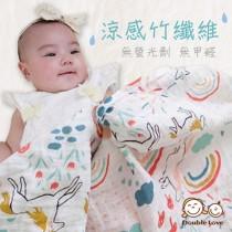 【嬅樺小舖】竹纖維涼感印花紗布多功能被毯~一巾多用   媽媽寶寶必備單品喔!!